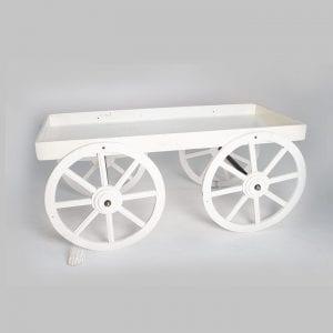 A Beautiful White Wheel Cart